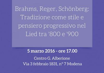 5 March: Concerto Brahms, Reger, Schönberg
