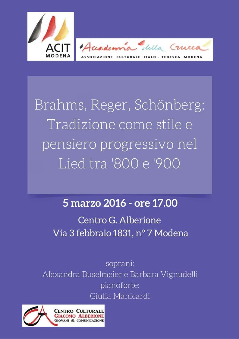 Concerto Brahms, Reger, Schönberg