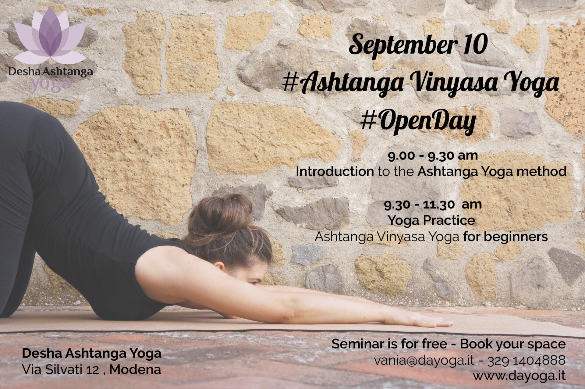 September 10 open day