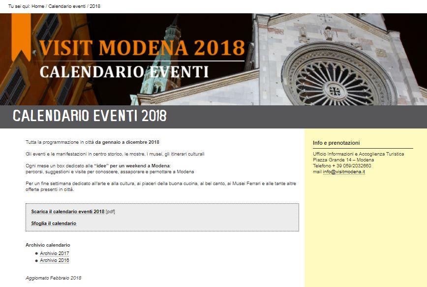 Modena calendar