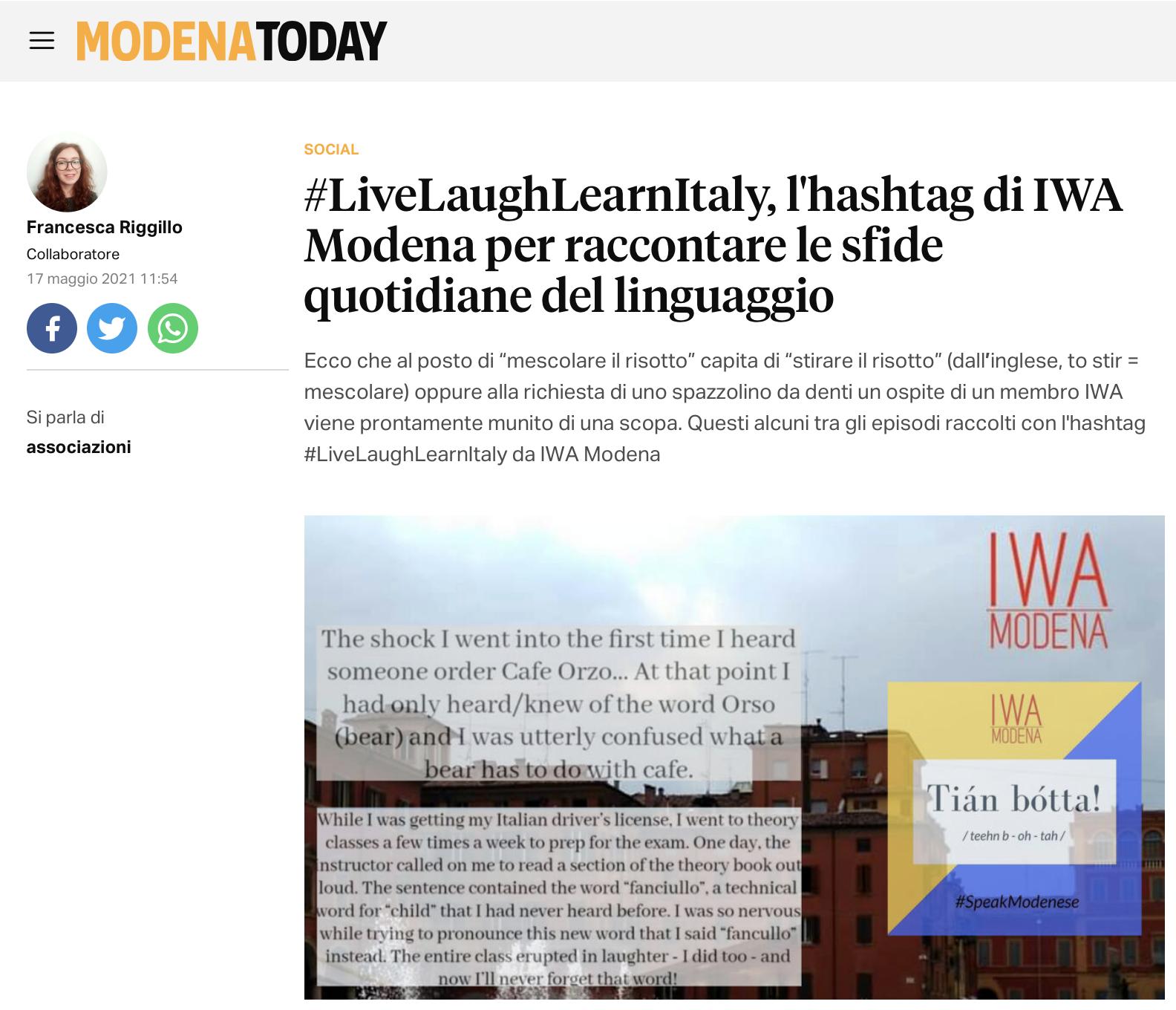 live laugh learn iwa modena modena today